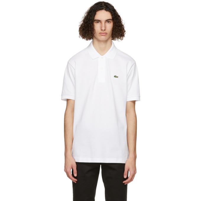 Lacoste Men's L.12.12 Cotton Petit Piqué Polo In 001 White
