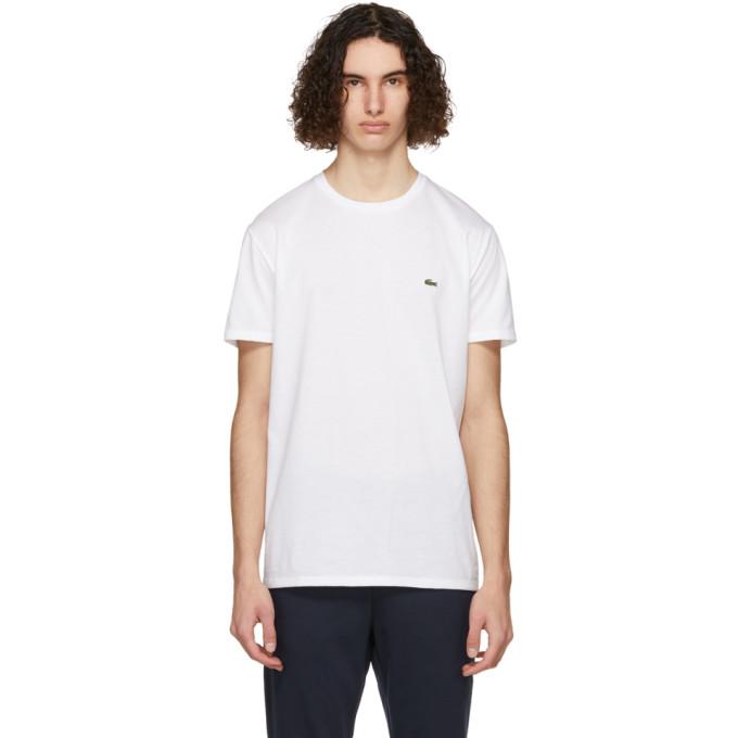Lacoste Slim-fit Logo-appliquéd Cotton-jersey T-shirt In 001 White