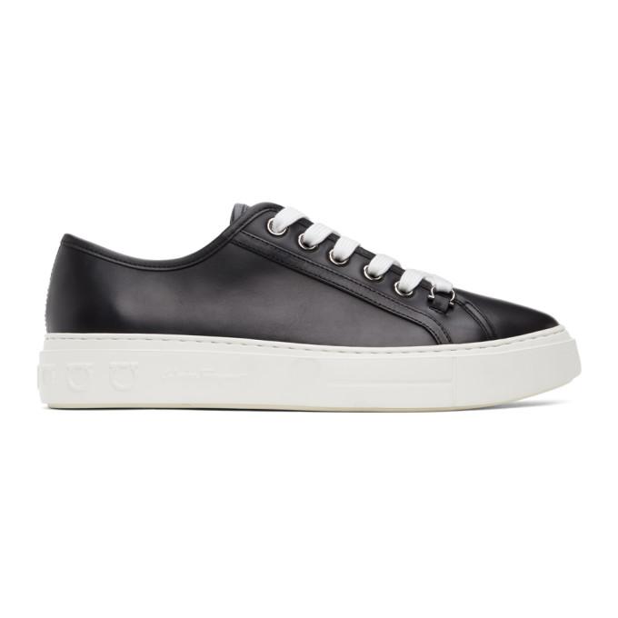 Salvatore Ferragamo 黑色 and 白色 Anson Borg 运动鞋