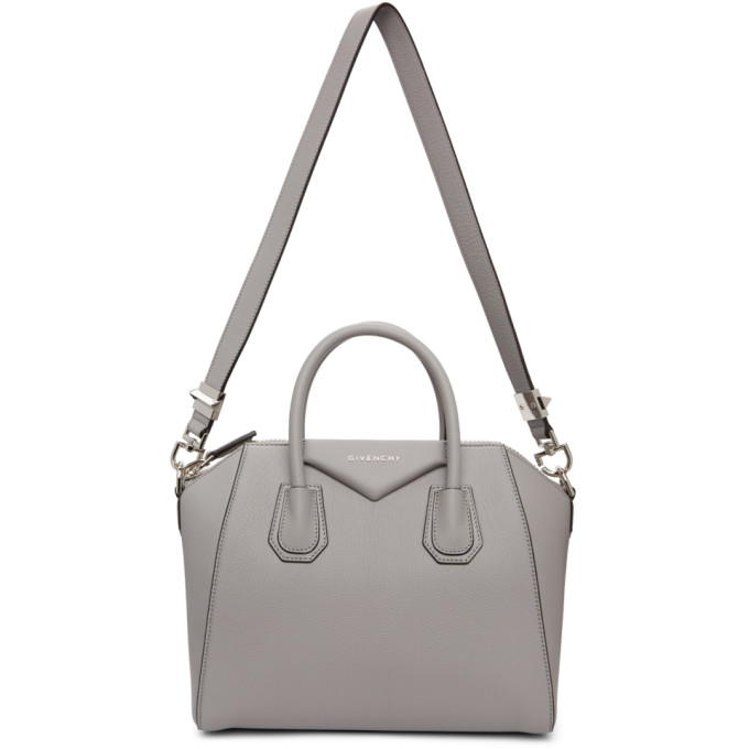 Givenchy Grey Grained Small Antigona Bag