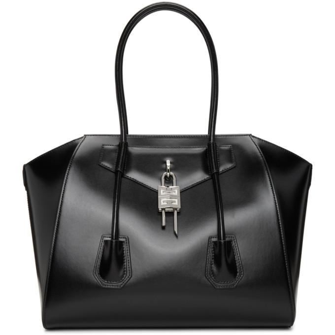 Givenchy Leathers GIVENCHY BLACK MEDIUM ANTIGONA WITH LOCK BAG