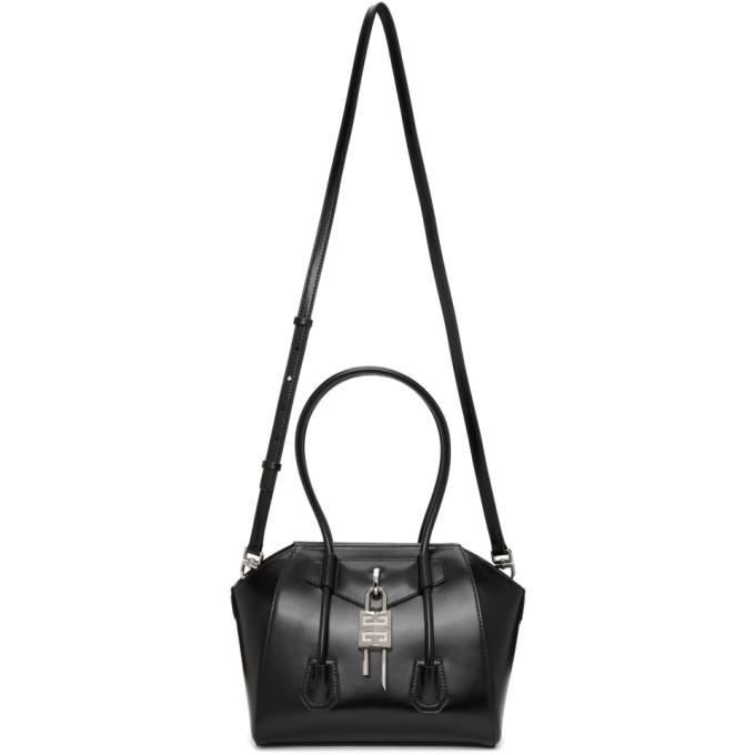 Givenchy Leathers GIVENCHY BLACK MINI ANTIGONA WITH LOCK BAG