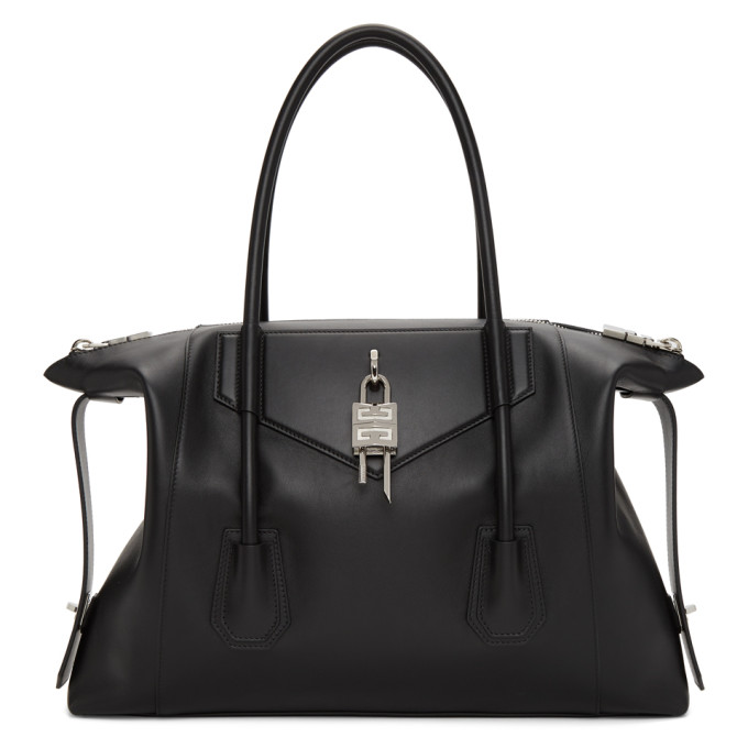Givenchy Leathers GIVENCHY BLACK MEDIUM ANTIGONA SOFT WITH LOCK BAG