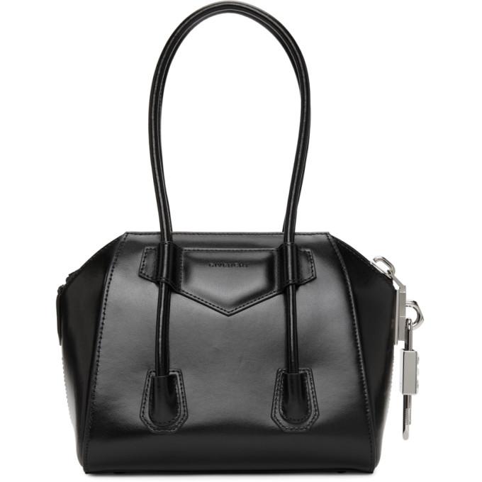 Givenchy Canvases GIVENCHY BLACK MINI ANTIGONA WITH SIDE LOCK BAG