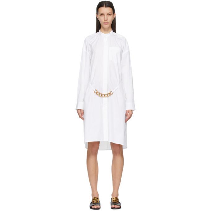 Givenchy White Chain Shirt Dress