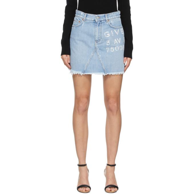Givenchy 蓝色牛仔短裙