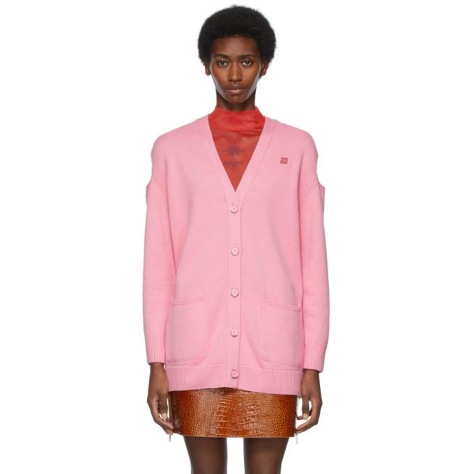 Givenchy Cardigans GIVENCHY PINK LOGO CARDIGAN