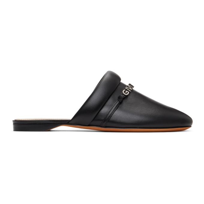 Givenchy Black Elba Slippers