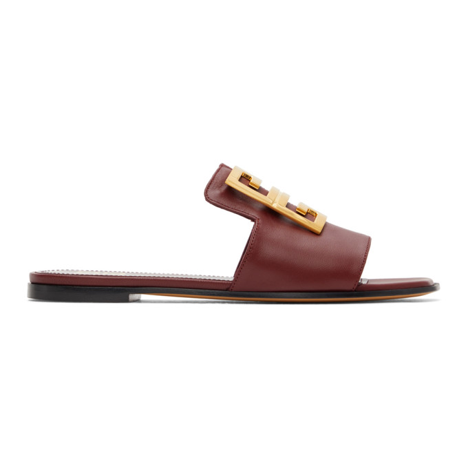 Givenchy GIVENCHY BURGUNDY 4G SANDALS