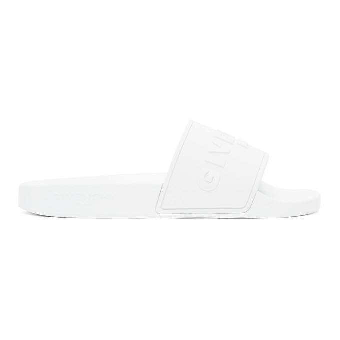 Givenchy GIVENCHY WHITE LOGO FLAT SANDALS