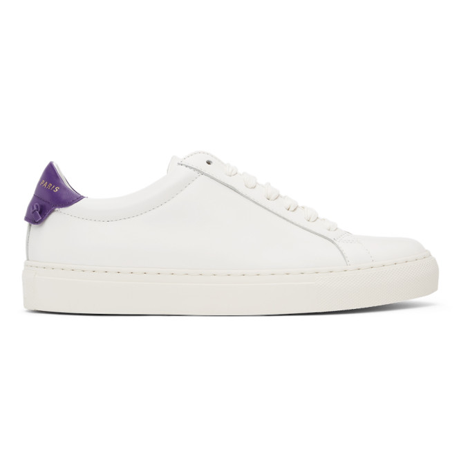 Givenchy GIVENCHY WHITE AND PURPLE URBAN KNOTS SNEAKERS