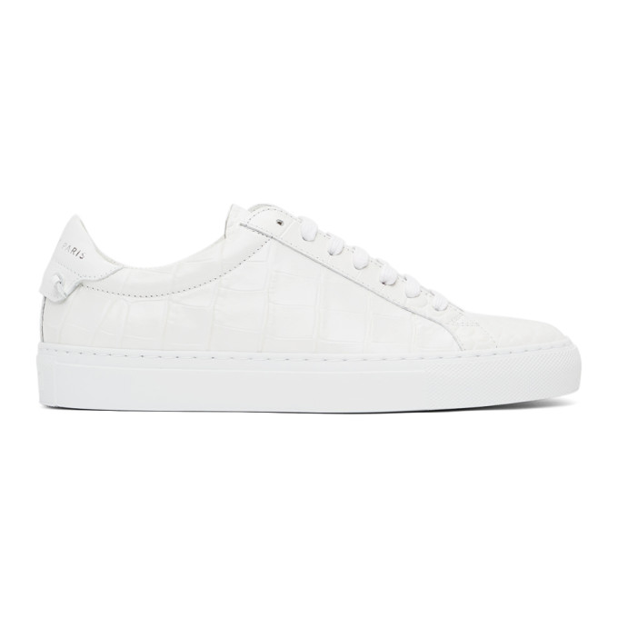 Givenchy GIVENCHY WHITE CROC URBAN KNOTS SNEAKERS