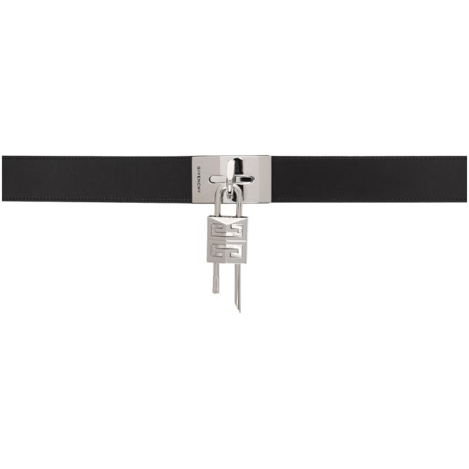 Givenchy Belts GIVENCHY BLACK LOCK BELT