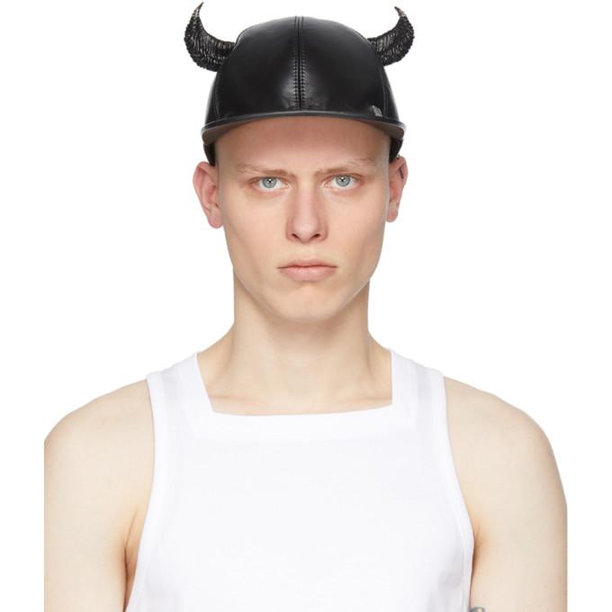 Givenchy Caps GIVENCHY BLACK HORN CAP