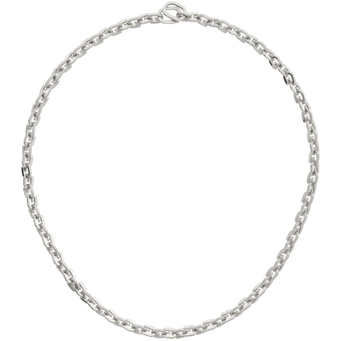 Givenchy GIVENCHY SILVER G LINK NECKLACE