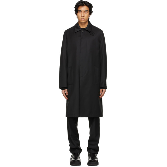 Givenchy Black Patch Trench Coat