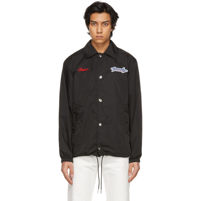 Givenchy Black Embroidered Patches Motel Windbreaker Jacket