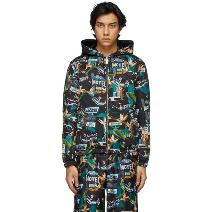 Givenchy Reversible Black Motel Windbreaker Jacket