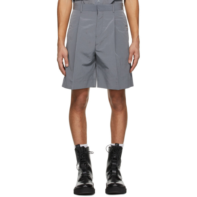 Givenchy GIVENCHY GREY WET EFFECT SHORTS