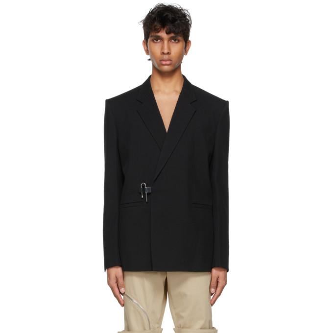 Givenchy Wools GIVENCHY BLACK PADLOCK BLAZER