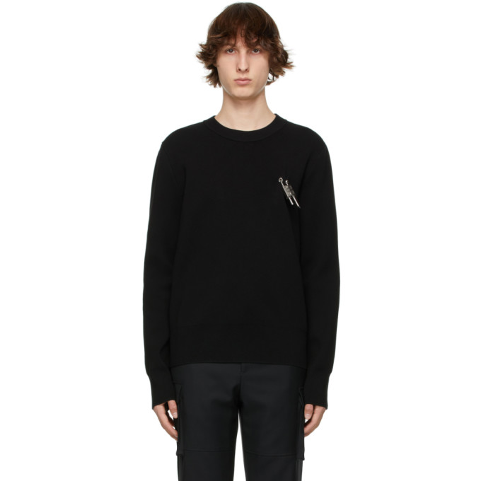 Givenchy GIVENCHY BLACK PADLOCK SWEATER