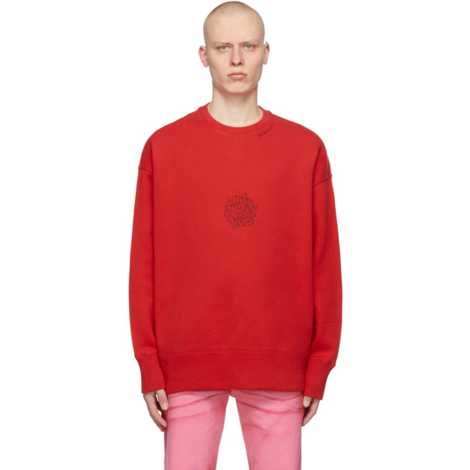 Givenchy Cottons GIVENCHY RED OVERSIZED SCORPION 4G SWEATSHIRT