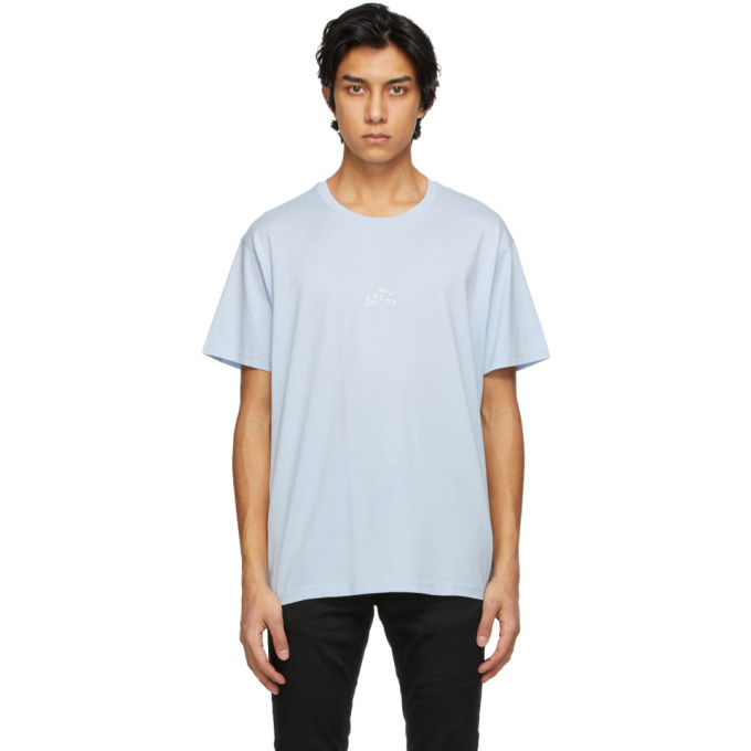Givenchy Blue Embroidered Refracted T-Shirt