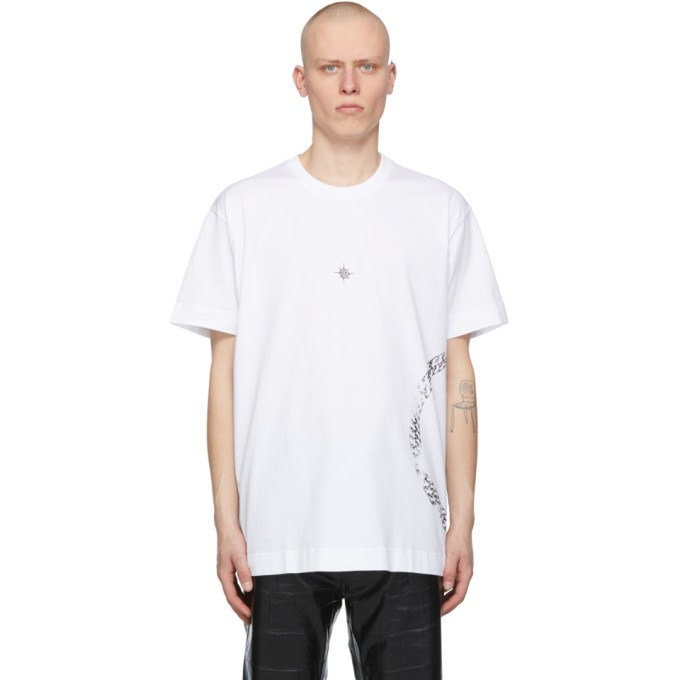 Givenchy GIVENCHY WHITE OVERSIZED PANTHER T-SHIRT