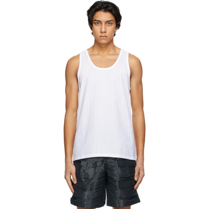 Givenchy White Pinstripe Tank Top
