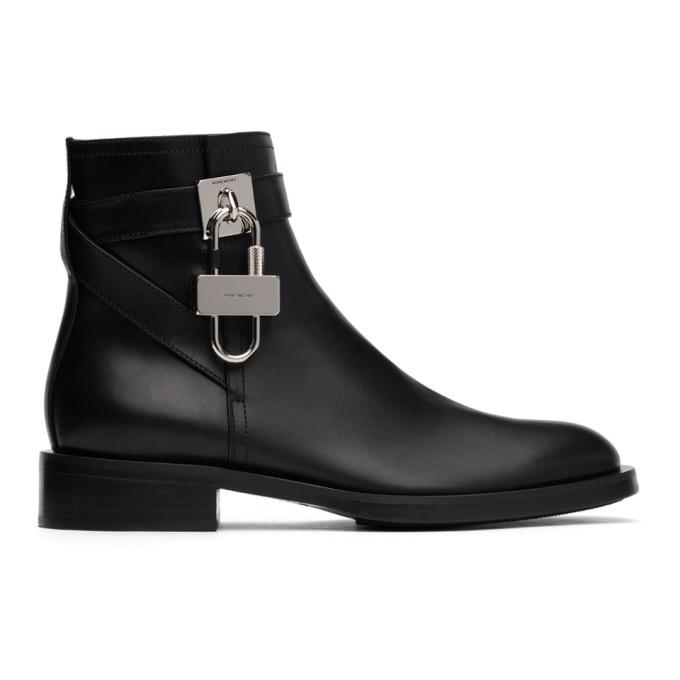 Givenchy Boots GIVENCHY BLACK PADLOCK BOOTS