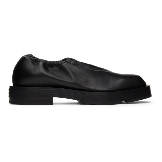 Givenchy Leathers GIVENCHY BLACK SMOOTH LEATHER SLIP-ON LOAFERS