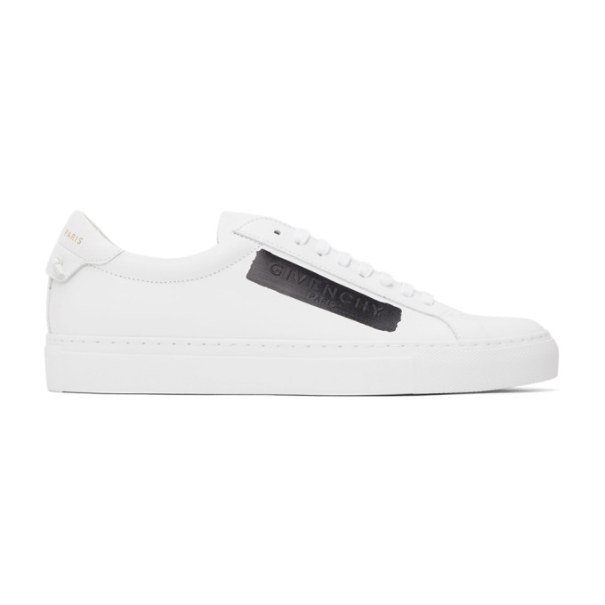 Givenchy GIVENCHY WHITE AND BLACK LATEX BAND URBAN STREET SNEAKERS