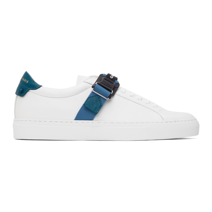 Givenchy GIVENCHY WHITE AND BLUE STRAP URBAN KNOT SNEAKERS