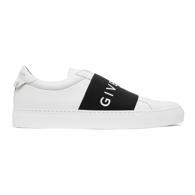 Givenchy GIVENCHY WHITE AND BLACK ELASTIC URBAN STREET SNEAKERS