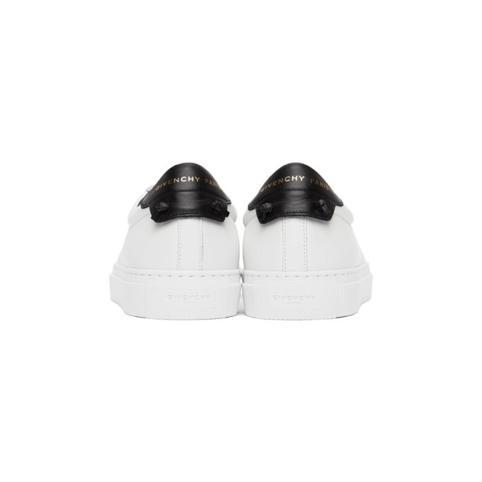 GIVENCHY Leathers GIVENCHY WHITE AND BLACK URBAN STREET SNEAKERS