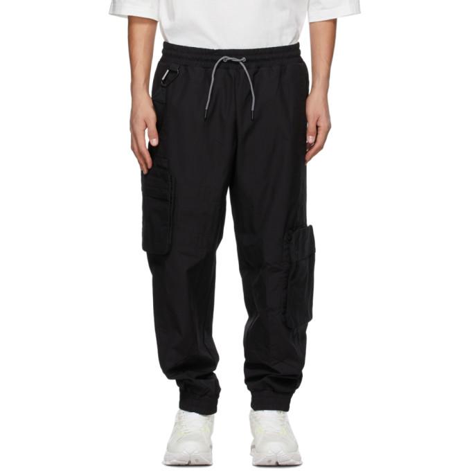A. A. Spectrum Black Jersey Cargo Pants