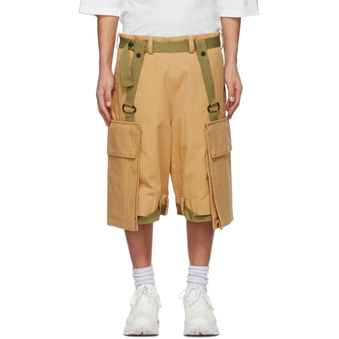 A. A. Spectrum Beige Workwear Shorts In Wheat