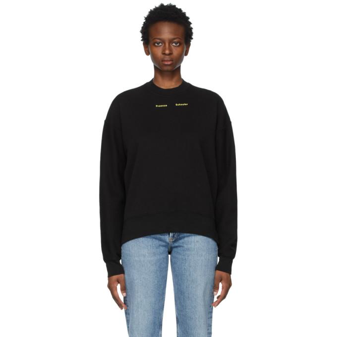 Proenza Schouler Sweatshirts PROENZA SCHOULER BLACK PROENZA SCHOULER WHITE LABEL PS NY SWEATSHIRT