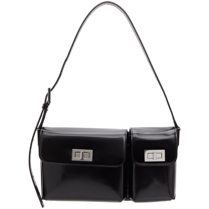 By Far BY FAR BLACK PATENT BILLY SHOULDER BAG