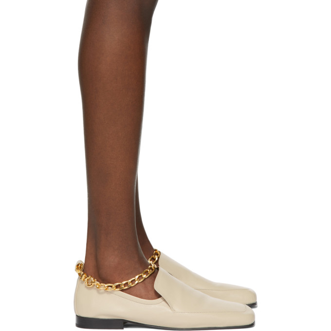 By Far Leathers BY FAR BEIGE NICK LOAFERS