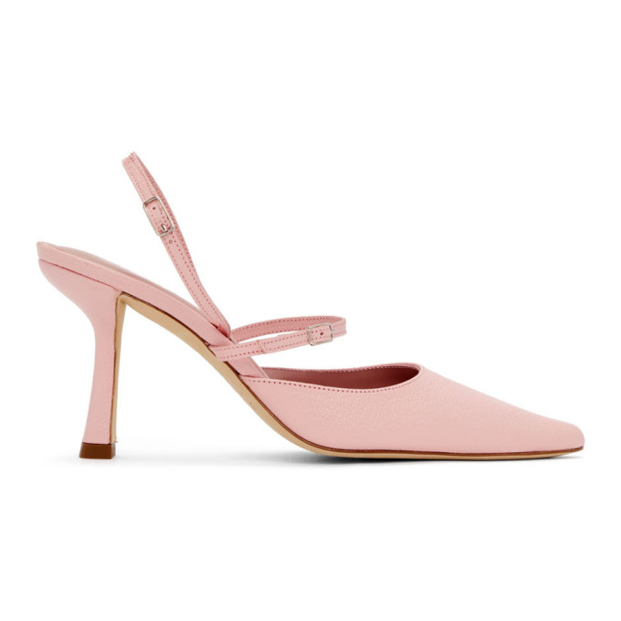 By Far BY FAR PINK NAPPA TIFFANY SLINGBACK HEELS