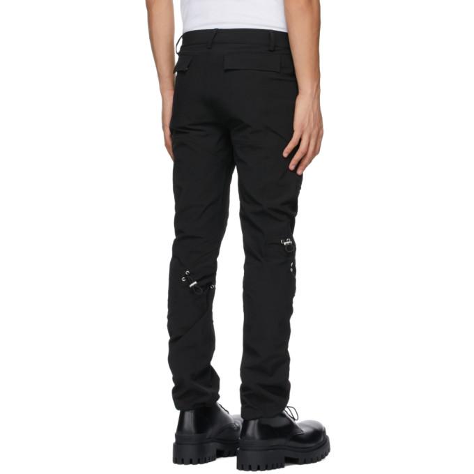 HELIOT EMIL Pants Black Drawstring Cargo Trousers