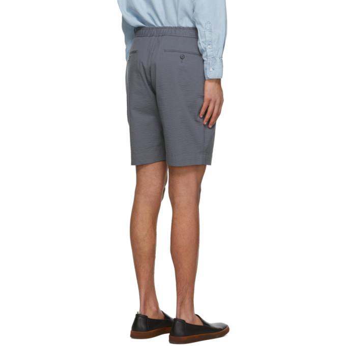 OFFICINE GENERALE Shorts OFFICINE GENERALE GREY SEERSUCKER PHIL SHORTS