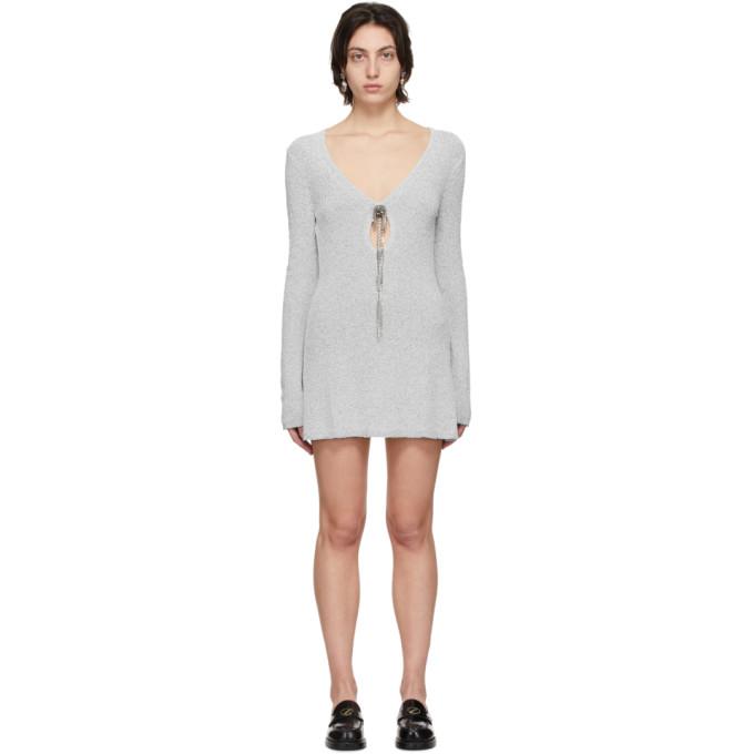 We11 Done Dresses WE11DONE GREY TANGLED CHAIN DRESS