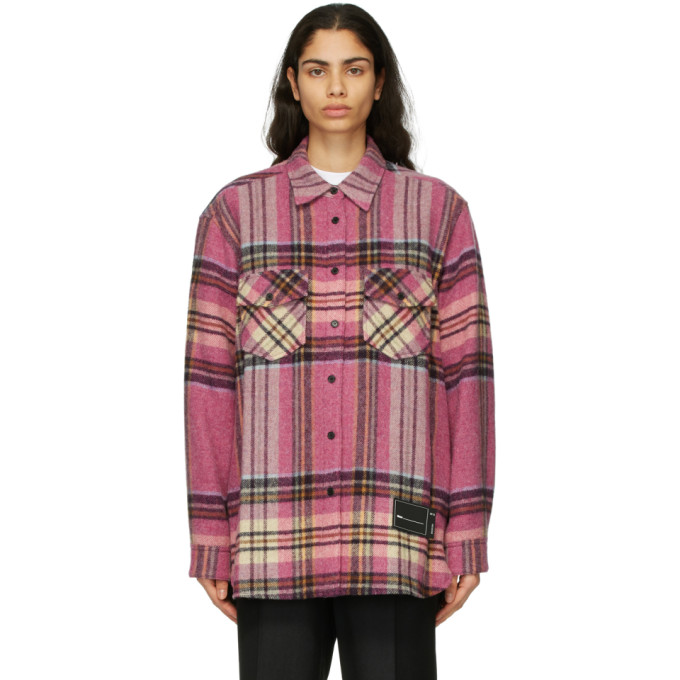We11done We11done Pink Wool Check Shirt