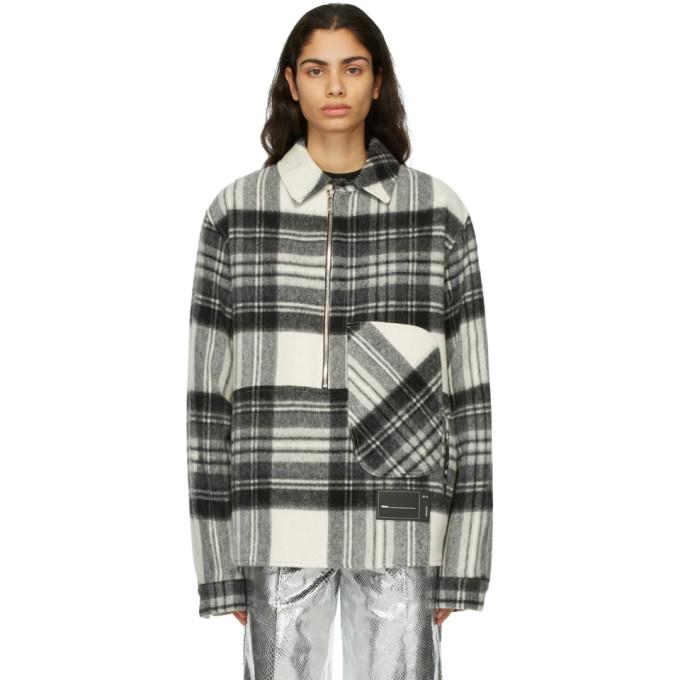 We11done We11done Grey Wool Plaid Anorak Jacket