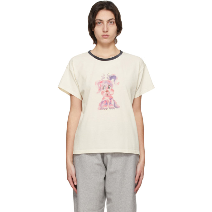 We11 Done WE11DONE OFF-WHITE AND BLACK MONSTER T-SHIRT