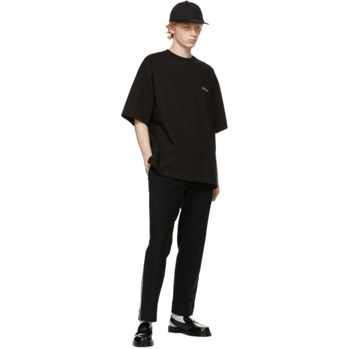 WE11 DONE Cottons WE11DONE BLACK LOGO T-SHIRT