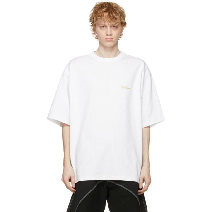 We11 Done WE11DONE WHITE LOGO T-SHIRT