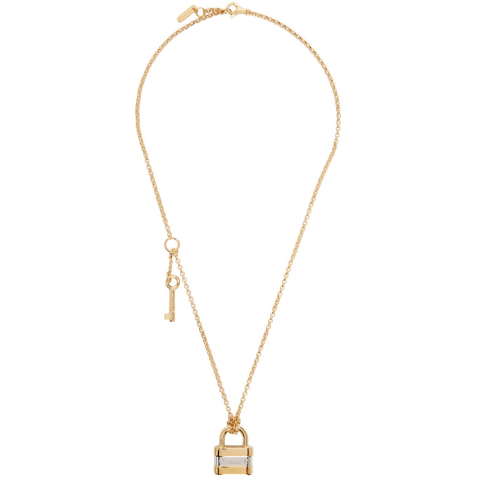 Chloé Necklaces CHLOE GOLD AND SILVER COLLEEN PADLOCK NECKLACE